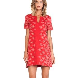 Marc by Marc Jacobs Red Cassie Print Jersey Dress